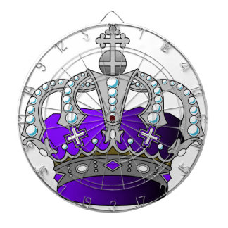 Purple Royal Crown Dartboard With Darts
