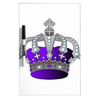 Purple Royal Crown Dry-Erase Board