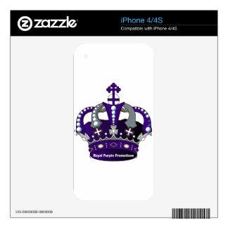 Purple Royal Crown iPhone 4 Skins