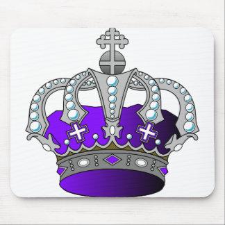 Purple Royal Crown Mouse Pad