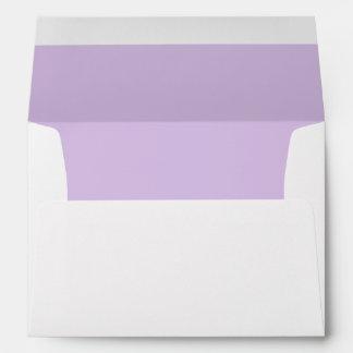 Purple Royal Pale Invitation Envelope