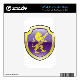 Purple Royal Shield with golden Lion Vector art iPod Touch 4G Skins