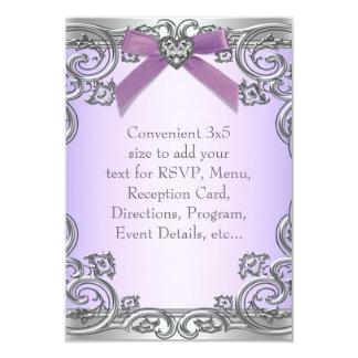 Purple RSVP All Purpose Card