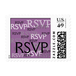 Purple RSVP Postage Stamps