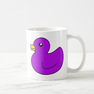 Purple Rubber Ducky Coffee Mugs