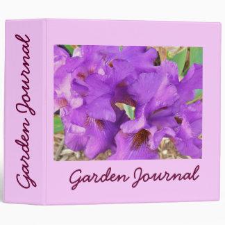 "Purple Ruffles Garden Journal - Avery 2"" Binder"