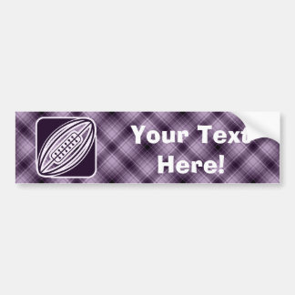Purple Rugby Bumper Stickers