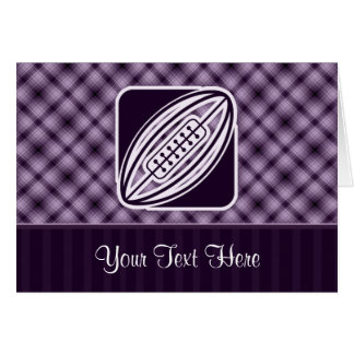 Purple Rugby Greeting Card