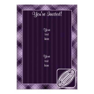 Purple Rugby 5x7 Paper Invitation Card