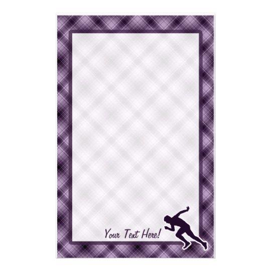 Purple Running Stationery