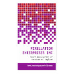 Purple Rust Pixel Modulation Business Card Templates
