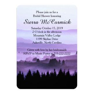 Purple Rustic Mountain Bridal Shower Invitation