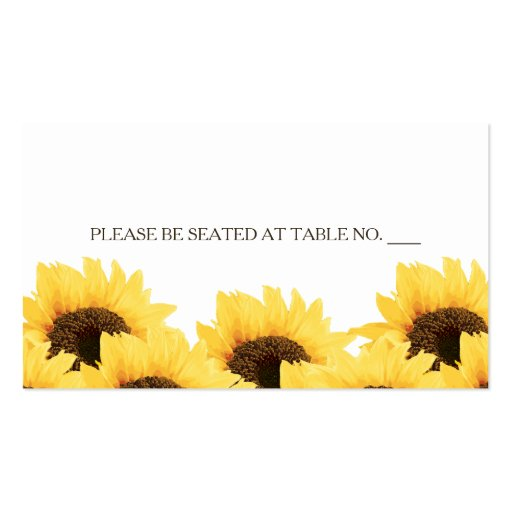 PURPLE RUSTIC SUNFLOWER SEATING PLACE CARD BUSINESS CARD