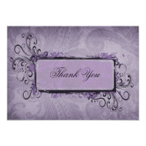 Purple Rustic Vintage Wedding Card