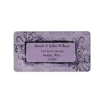 Purple Rustic Vintage Wedding Label