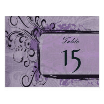 Purple Rustic Vintage Wedding Postcard