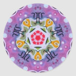 Purple Sacred Geometry Zodiac Fractal Sticker