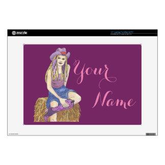 Purple Sage Cowgirl Laptop Skins