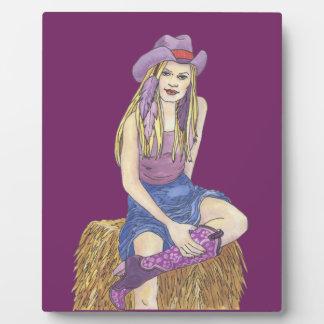 Purple Sage Cowgirl Plaque