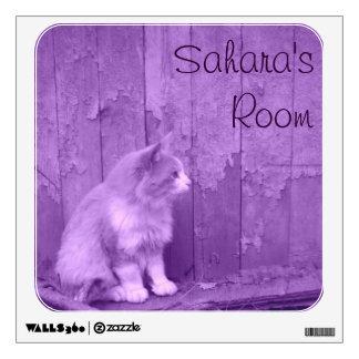 Purple Sahara Cat Wall Decal