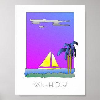 Purple Sail Poster