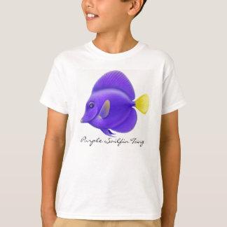 Purple Sailfin Tang Kids T-Shirt