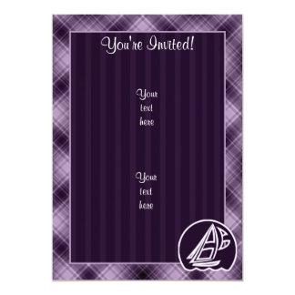Purple Sailing Card