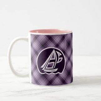 Purple Sailing Two-Tone Coffee Mug