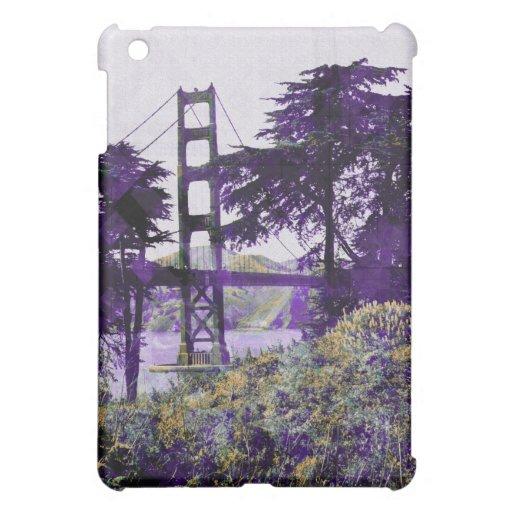 Purple_salmon mágico del puente de la puesta del s