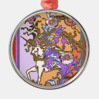 Purple-salmon Unicorn Party gifts by Sharles Metal Ornament