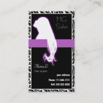 Purple Salon businesscards and appointment