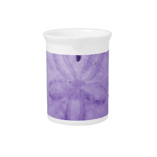Purple Sand Dollar Drink Pitcher