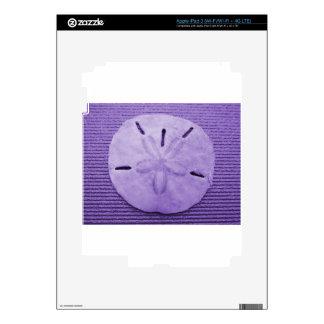 Purple Sand Dollar iPad 3 Decals