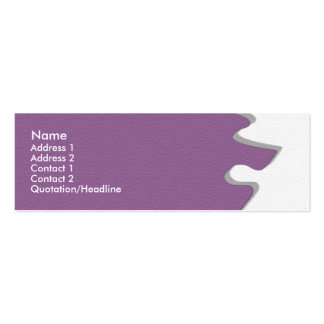 Purple Sandstone Profile Card Double-Sided Mini Business Cards (Pack Of 20)