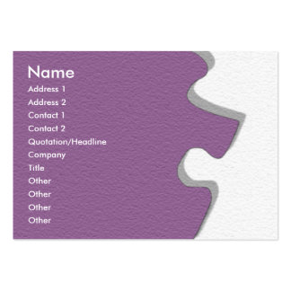 Purple Sandstone Profile Card Large Business Cards (Pack Of 100)