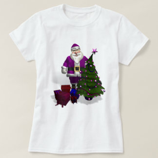 Purple Santa Claus T-Shirt
