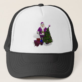 Purple Santa Claus Trucker Hat