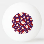 Purple santa pattern Ping-Pong ball