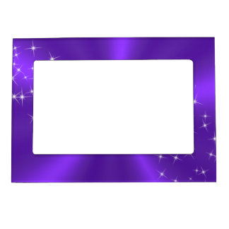 PURPLE SATIN MAGNETIC FRAME
