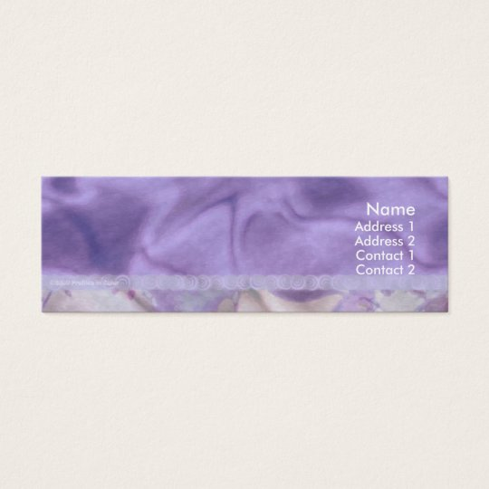 Purple Satin Plums & Pines Profile Card