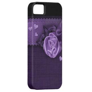Purple Satin Rose iPhone 5 Case