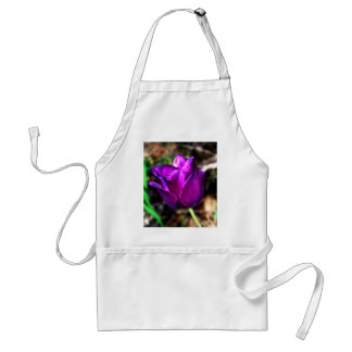 Purple Satin Tulip Adult Apron