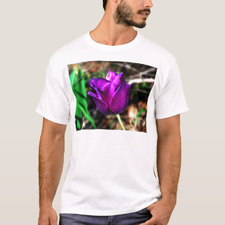 Purple Satin Tulip T-Shirt