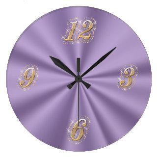 Purple Satin Wall Clock