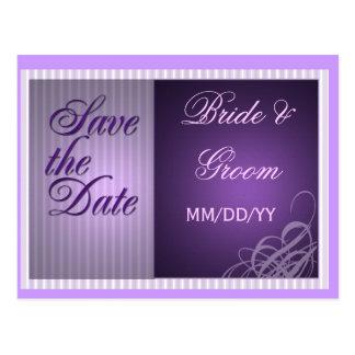 Purple save the date card