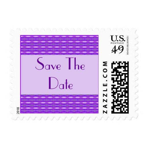 purple Save the Date Postage Stamp