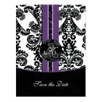 purple Save the Date Postcard