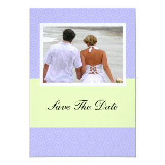 Purple Save The Date Wedding Engagement Announceme Card