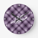 Purple Saxophone Wall Clock