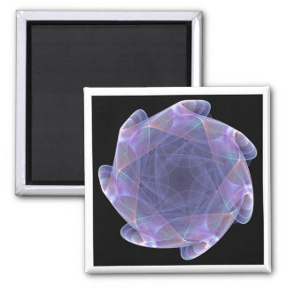 purple scalloped fractal magnet